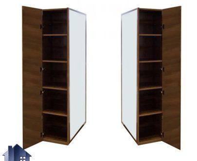 آینه ایستاده قدی SMJ287 قفسه دار که میتواند به عنوان یک جاکفشی در داخل اتاق خواب و یا حتی پذیزایی به صورت دکوراتیو مورد استفاده قرار بگیرد