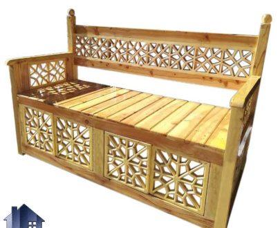 تخت چوبی سنتی سه نفره TrK238 دارای طراحی زیبا که مناسب برای رستوران قهوه خانه و باغ و ویلا و فضای باز بوده و به رنگ های متنوع ساخته شده است