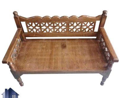 تخت چوبی سنتی دو نفره TrK245 که برای سفره خانه و قهوه خانه و رستوران سنتی و ویلا و فضای باز و باغی با رنگ های متنوع از چوب استفاده میشود.