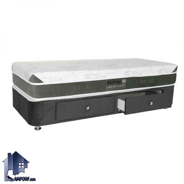 باکس 140*200 120*200 100*200 90*200 160*200 180*200 کشودار BRA304 که به عنوان یک تخت خواب دو نفره و به صورت کمجا ساخته شده که برای جابجایی راحتتر به صورت دو تکه ساخته شده است اتاق خواب منازل و ویلا و هتل و خوابگاه .