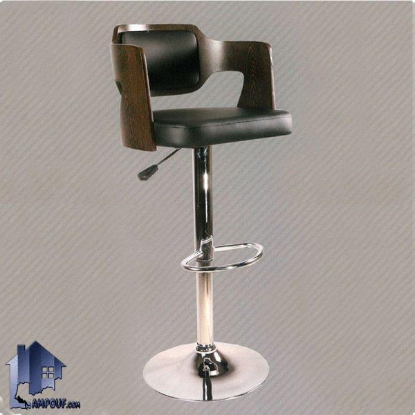 صندلی اپن BSO2120 و صندلی بار فلزی که به عنوان صندلی آشپزخانه و کانتر و میز بار و میز اپن و بار با رنگ های متنوع از جنس MDF ساخته میشود.