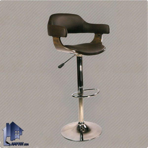 صندلی اپن BSO2178 که برای میز های بار آشپزخانه رستوران و کافی شاپ و فست فود به عنوان صندلی جکدار با بدنه MDF و پایه فلزی ساخته شده است.