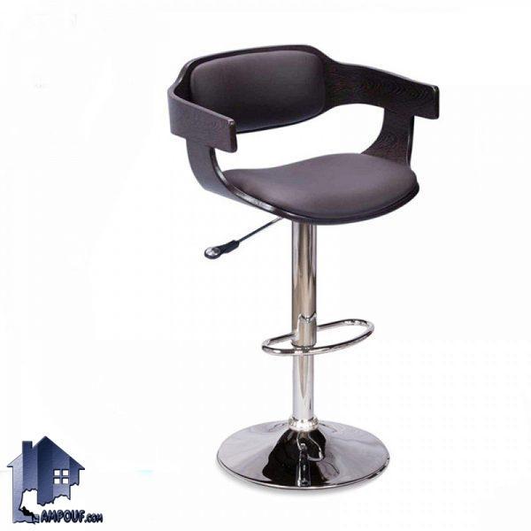 صندلی اپن و بار و کانتر BSO2179 با طراحی پایه جکدار با ارتفاع بلند برای استفاده در کنار میز بار و آشپزخانه و رستوران و کافی شاپ ساخته شده است.