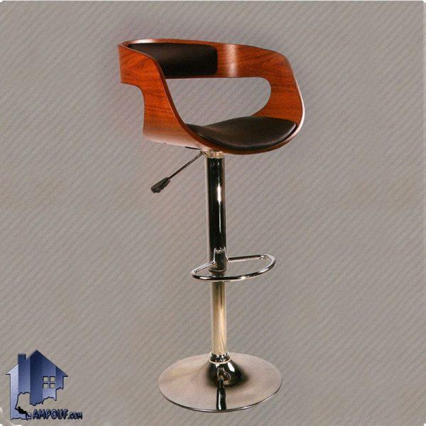 صندلی اپن BSO2207 که برای میز بار کانتر آشپزخانه با پایه فلزی جکدار و بدنه MDF خم شده یا رنگ های متنوع و طراحی زیبا ساخته شده است.