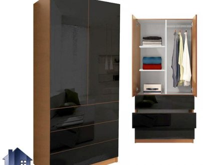کمد جالباسی lHJ159 به صورت دراوری و سه کشو و درب دار و همچنین قفسه دار که دارای میله برای آویز رگال لباس و از جنس MDF میباشد.
