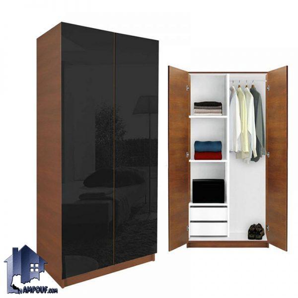 کمد جالباسی lHJ160 کشو دار و قفسه دار و درب دار و دارای رگال آویز لباس که با بدنه ای از MDF ساخته شده و دارای رنگ بندی متنوع میباشد.