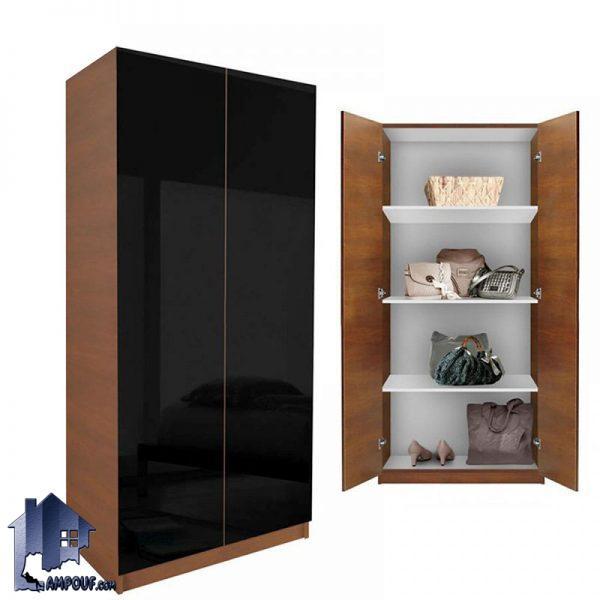 کمد LHJ161 که به صورت قفسه دار و با استفاده از دو درب که به عنوان کمد اتاق خواب و دیواری میتواند فضایی مناسب برای شما به وجود آورد