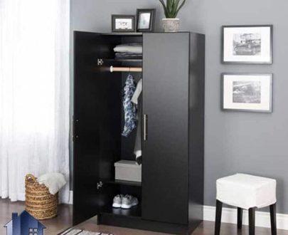 کمد جالباسی LHJ165 که از دو درب بزرگ و یک میله برای آویز لباس تشکیل شده است و میتواند به عنوان کمد دیواری در اتاق خواب مورد استفاده قرار بگیرد.