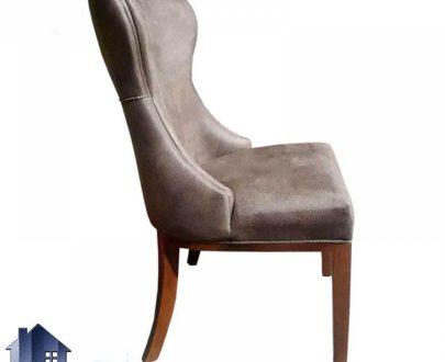 صندلی نهارخوری چستر DSR102 که دارای بدنه چوبی و نشیمن پارچه ای که در غذاخوری ها رستوران کافی شاپ فست فود و آشپزخانه مورد استفاده قرار میگیرد.