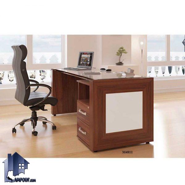 میز کارمندی EDN4811 و یا کارشناسی که میتواند به عنوان میز مدیریتی در محیط های اداری و یا حتی در منازل به عنوان میز کامپیوتر در اتاق کار استفاده شود.