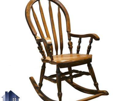 صندلی راک چوبی RCA108 که به عنوان صندلی راحتی در کنار شومینه و اتاق خواب مورد استفاده قرار میگیرد که دارای دسته های مبلی راحت میباشد.