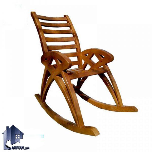 صندلی چوبی راک RCQ105 که از آن در داخل اتاق خواب و تراس و یا در کنار شومینه به عنوان صندلی راحتی و مطالعه با رنگ های متنوع استفاده میشود.