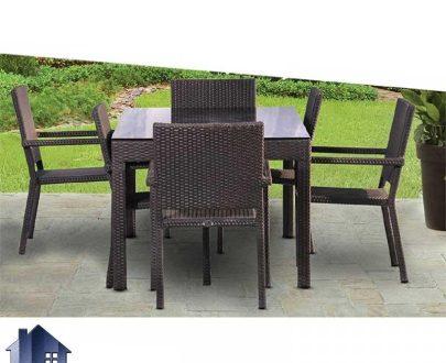 میز صندلی نهارخوری فضای باز ODK100 که دارای بافت پلی اتیلن بوده و مناسب برای رستوران و کافی شاپ و ویلا ها به عنوان یک ناهار خوری زیبا قابل استفاده میباشد.
