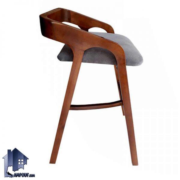 صندلی اپن BSB105 که با ارتفاع بلند و از جنس چوبی ساخته شده و برای انواع میز های بار و کانتر در آشپزخانه ها و رستوران ها و کافی شاپ ها مناسب میباشد.