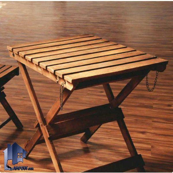 میز تاشو نوژن BTAR101 دارای جنس چوبی که به عنوان یک میز نهارخوری تاشونده و کمجا با حمل راحت در داخل آشپزخانه و کافی شاپ و وفست فود و رستوران استفاده میشود.