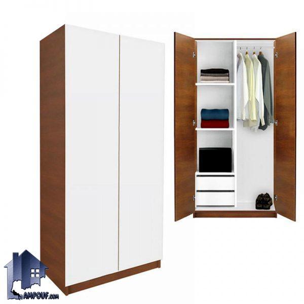 کمد جالباسی LHJ154 که به عنوان یک کمد ایستاده و دارای دو کشو و قفسه و رگال آویز لباس میتواند در داخل اتاق خواب قرار بگیرد و سرویس خواب شما را کامل نماید.