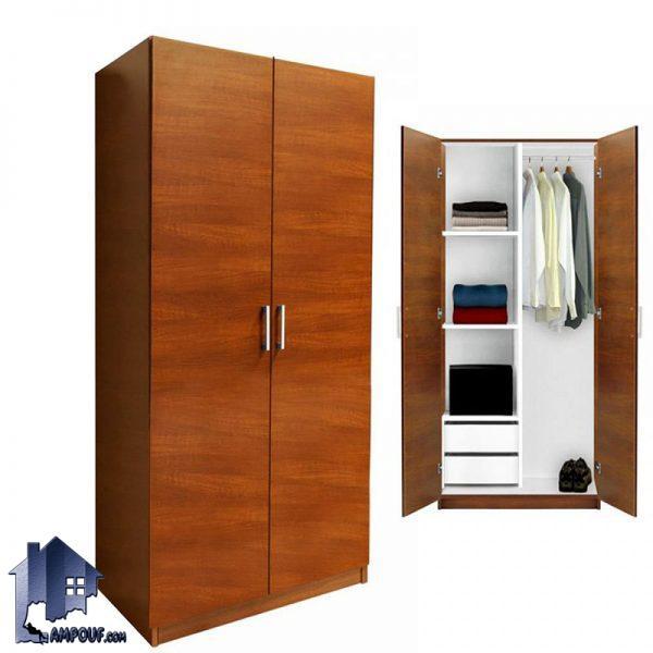 کمد جالباسی LHJ156 با طراحی به صورت کمد ایستاده دو درب با دو کشو که دارای قفسه و رگال آویز لباس بوده و مناسب برای اتاق خواب و در کنار سرویس خواب میباشد.