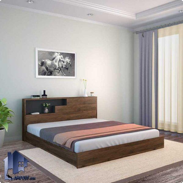 تخت خواب دو نفره DBJ102 با سایز های کوین و کینگ Queen و King که به عنوان یک تختخواب دونفره در داخل اتاق خواب و در کنار سرویس خواب قرار میگیرد.