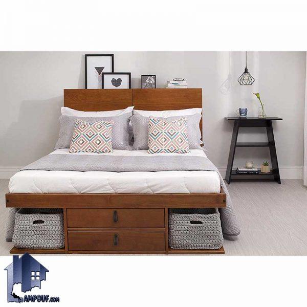 تخت خواب دو نفره DBJ112 با طراحی به صورت کشو دار و قفسه دار که به عنوان یک تختخواب دوتفره و سرویس خواب در داخل اتاق خواب مورد استفاده قرار بگیرد.