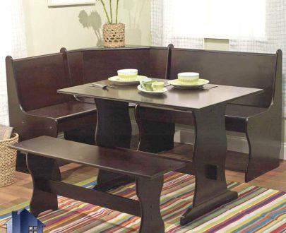 ست میز نهارخوری 6 نفره DTJ15 دارای طراحی به صورت ال شکل که به عنوان یک میز ناهار خوری و یا غذاخوری در آشپزخانه و رستوران و کافی شاپ استفاده میشود.