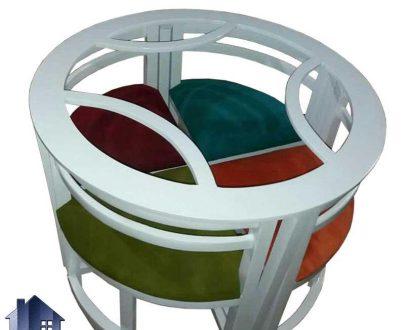 ست میز نهارخوری کمجا DTB6 دارای صفحه گرد و با چهار صندلی به صورت کم جا که میتواند برای آشپزخانه منازل کوچک و رستوران و کافی شاپ و فست فود ها بسیار مناسب باشد.