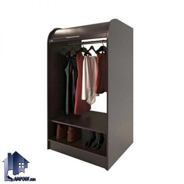 کمد جالباسی LHB292 که به صورت قفسه دار و دارای میله آویز لباس و همچنین درب کرکره ای رول آپ و قفل دار که در داخل اتاق خواب و دفاتر مدیریت قابل استفاده است.