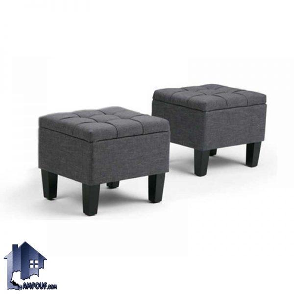پاف PBJ102 به عنوان نیمکت و صندلی یک نفره و هم به عنوان باکس و صندوق و یا حتی جلومبلی میتواند مورد استفاده قرار بگیرد و با ابعاد دلخواه شما ساخته شود.