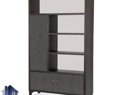 کمد ویترینی SCJ176 درب دار و قفسه دار که به عنوان یک شلف و ویترین میتواند در قسمت های مختلف منزل و اتاق خواب و سالن پذیرایی و یا دفاتر کار استفاده شود.