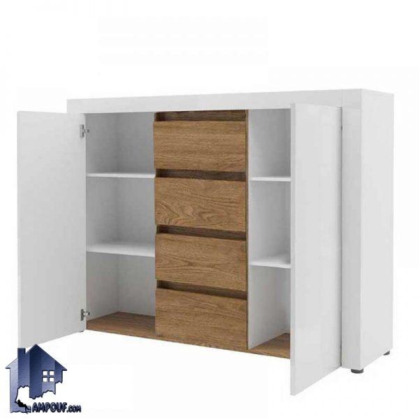کنسول SCJ177 دارای کشو و درب که به عنوان یک کمد و دراور و بوفه و یا یک میز آرایش میتواند در قسمت های مختلف منزل مانند اتاق خواب و سالن پذیرایی قرار بگیرد.