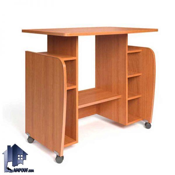 میز کامپیوتر SDJ302 دارای جای کیس و پرینتر و قفسه و همچنین پایه چرخ دار که به عنوان یک میز کار و تحریر و مطالعه و لپ تاپ نیز میتوانید استفاده نمایید.