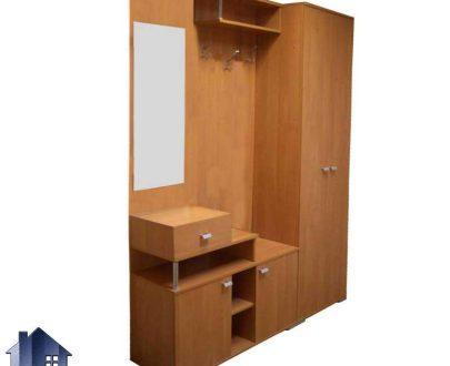جاکفشی و جالباسی SHJ254 به صورت کمد کشو دار و آینه دار دارای قفسه و رگال آویز لباس که برای اتاق خواب و ورودی منزل که میتواند دکوری زیبا را به وجود آورد.