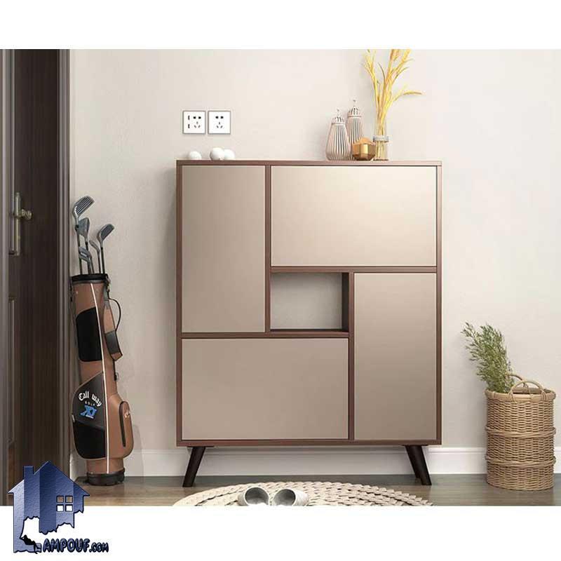 جاکفشی SHJ319 دارای پایه چوبی و درب جکدار و لولای آرامبند که به عنوان یک استند جای کفش در قسمت ورودی منزل و یا در داخل اتاق خواب مورد استفاده قرار میگیرد.