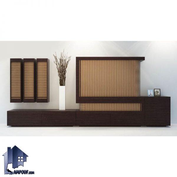 میز LCD مدل TTBG4 با طراحی درب دار از نوع درب های کرکره ای رول آپ که به عنوان یک استند و زیر تلویزیونی در تی وی روم و پذیرایی منزل قرار میگیرد.