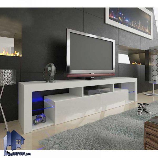 میز LCD مدل TTJ44 با طراحی زیبا به عنوان یک استند تلویزیون و زیر تلویزیونی میتواند در قسمت تی وی روم و پذیرایی دکوری زیبا و متفاوت را به وجود آورد.
