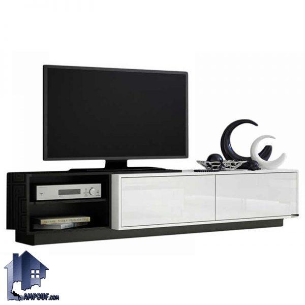 میز LCD مدل TTJ45 که به عنوان یک استند تلویزیون و زیر تلویزیونی با طراحی زیبا در داخل قسمت تی وی روم و یا پذیرایی منزل شما میتواند قرار بگیرد.