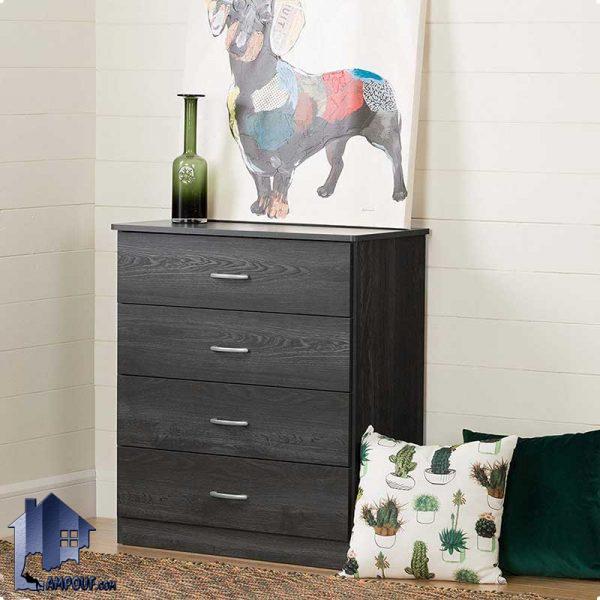 دراور DJ316 دارای 4 کشو که به عنوان یک کمد کشو دار لباس و یا میز آرایش با یک طراحی بسیار شیک در کنار سرویس خواب در داخل اتاق خواب استفاده میشود .