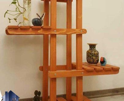 پایه گلدان طبقاتی مدل دراسنا PTAR102 که به عنوان یک استند و ویترین گل و زیر گلدان از جنس چوبی میتواند در قسمت های مختلف منزل و یا دفاتر کار استفاده شود.
