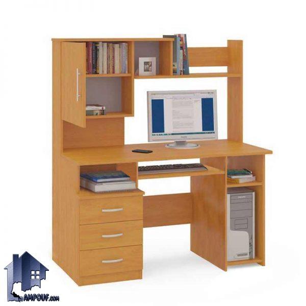 میز کامپیوتر SDJ262 دارای فایل و جای کیس و کتابخانه که به عنوان یک میز تحریر و مطالعه و کار و یا لپ تاپ در قسمت اتاق خواب منزل مورد استفاده قرار میگیرد.