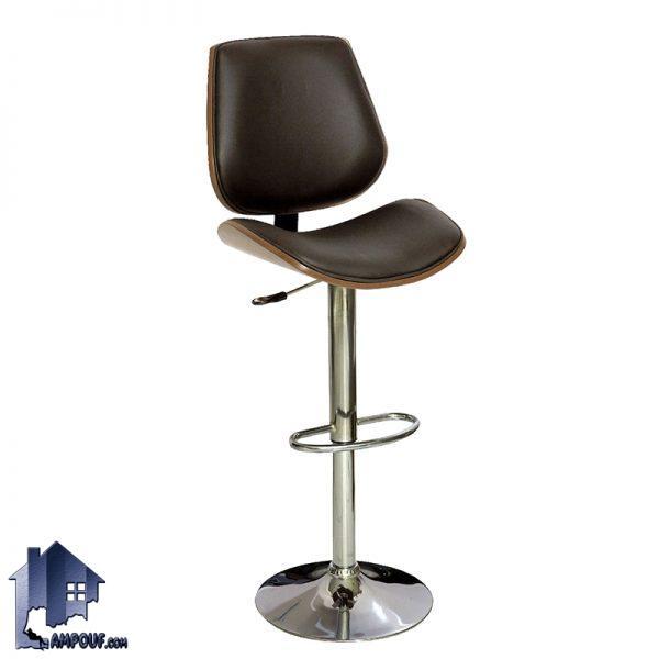 صندلی اپن و بار BSO2032 که به عنوان یک صندلی با پایه فلزی بلند و جکدار در کنار میز کانتر و پیشخوان در آشپزخانه و پذیرایی و کافی شاپ مورد استفاده میشود.