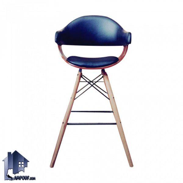 صندلی اپن و بار BSO2135B با پایه چوب بلند و ثابت که در کنار میز های بار و پیشخوان و کانتر در داخل آشپزخانه و کافی شاپ و رستوران مورد استفاده قرار میگیرد.