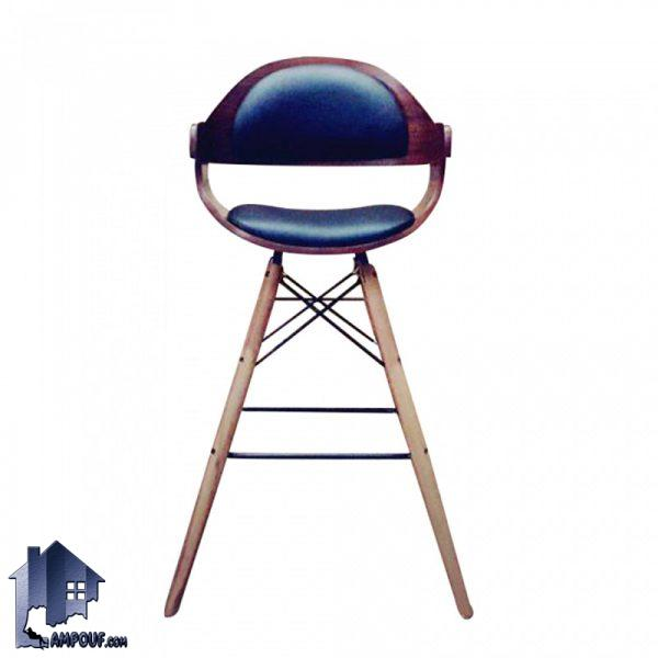 صندلی اپن و بار BSO2136B دارای پایه چوبی ثابت که برای تمامی میز های اپن و بار و کانتر و پیشخوان در آشپزخانه و کافی شاپ و رستوران مورد استفاده قرار میگیرد.