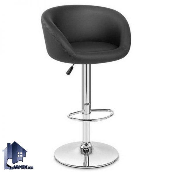 صندلی اپن و بار BSOH505 با پایه جکدار و فلزی که در کنار انواع میز های کانتر و پیشخوان در رستوران و کافی شاپ و پذیرایی و آشپزخانه مورد استفاده قرار میگیرد.