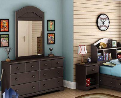 میز آرایش DJ337 که با طراحی بسیار زیبا و به صورت یک میز توالت و کنسول و یا دراور آینه دار در اتاق خواب در کنار سرویس خواب مورد استفاده قرار میگیرد.