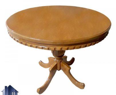 میز نهارخوری گرد DTB24 دارای میز به صورت منبت کاری شده و دارای پایه به صورت گلدانی زیبا که به عنوان غذا خوری و آشپزخانه و رستوران و کافی شاپ استفاده میشود.