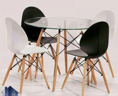 ست میز و صندلی نهارخوری DTKH32 که به عنوان یک میز غذا خوری در قسمت آشپزخانه و پذیرایی منزل و در کافی شاپ و فست فود و رستوران های شیک مورد استفاده قرار میگیرد.