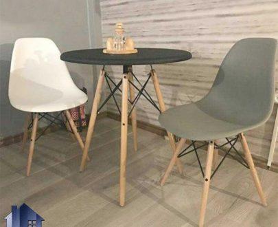 ست میز و صندلی نهارخوری DTKH34 به صورت فانتزی که این ست غذا خوری مناسب برای استفاده در منازل و آشپزخانه و پذیرایی و کافی شاپ و رستوران و فست فود میباشد.