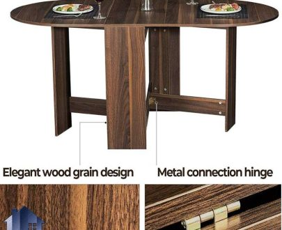 میز نهارخوری تبدیلی DTJ45 که به عنوان یک میز غذا خوری کمجا و تاشو در فضای آشپزخانه و پذیرایی منزل و همچنین کافی شاپ و رستوران مورد استفاده قرار میگیرد.