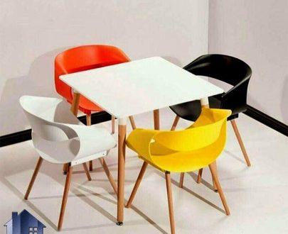 ست میز و صندلی نهارخوری DTKH31 که به عنوان ست غذا خوری با طراحی فانتزی و زیبا در رستوران کافی شاپ فست فود و آشپزخانه و یا پذیرایی مورد استفاده قرار میگیرد.