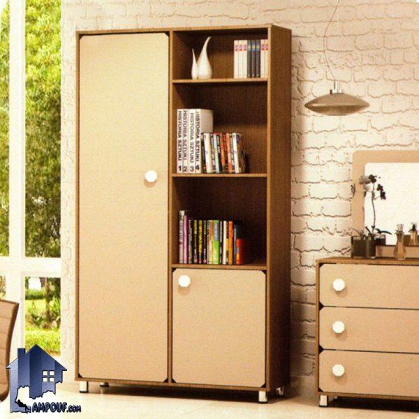 کمد جالباسی LHJ292 که به صورت قفسه دار بوده و به عنوان کتابخانه و جاکفشی و کمد لباس دارای میله آویز لباس در داخل اتاق خواب در کنار سرویس خواب قرار میگیرد.