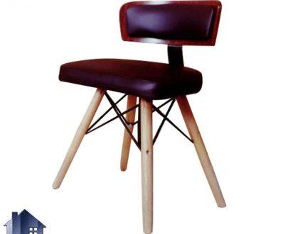 صندلی نهارخوری DSO2010 با نشیمن و پشتی راحت که در کنار انواع میز های غذا خوری چوبی در رستوران و کافی شاپ و رستوران و پذیرایی و آشپزخانه استفاده میشود.